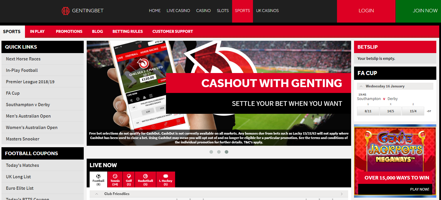 Genting Sports Betting for Bestonlinefreebets.com