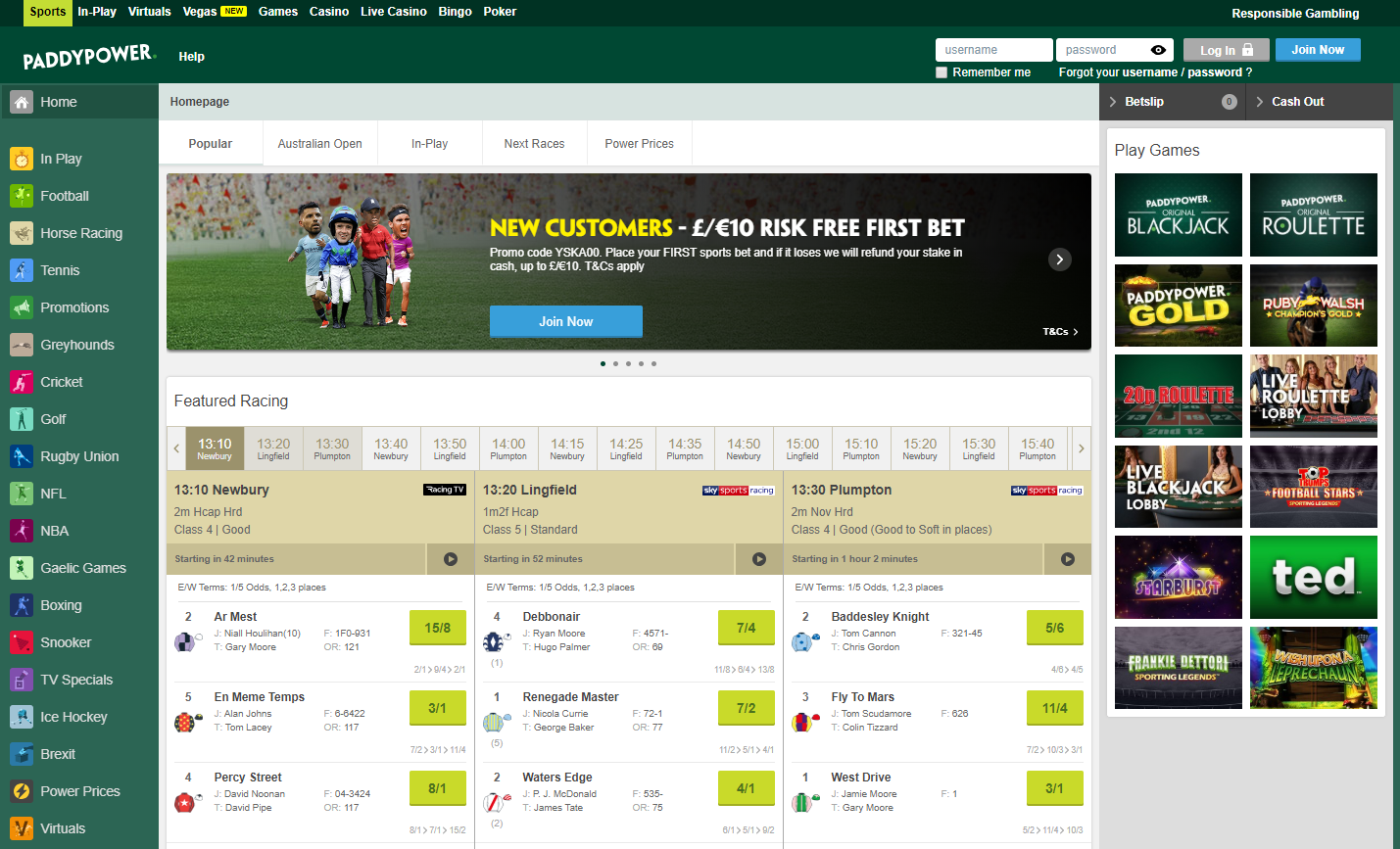 Paddy Power Home Page bestonlinefreebets.com