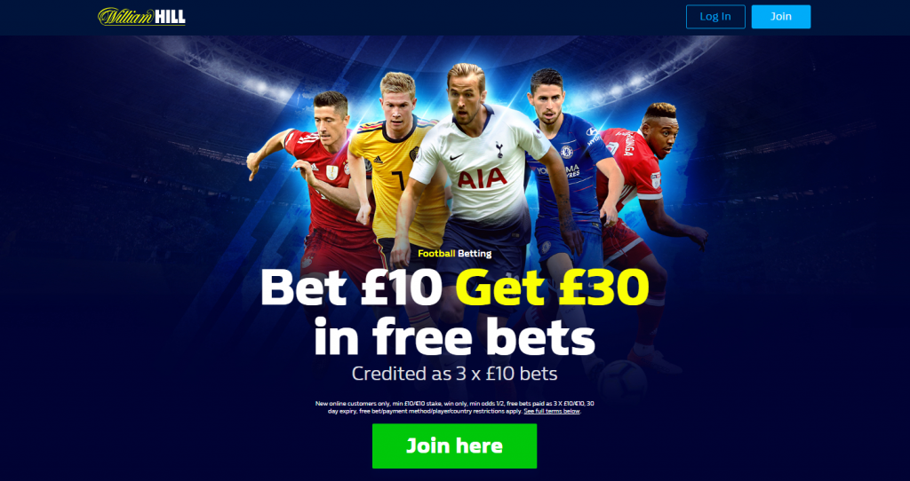 William Hill Offer Free Bet